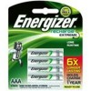 Energizer 800mAh Rechargeable AAA Batteries - Pack of 4