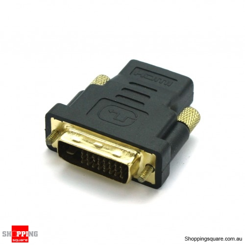 DVI (24+1)Pin MALE to HDMI Cable 19 Pin FEMALE Adaptor/convertor -  Shoppingsquare Australia