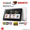 "Ainol Novo Mars 7"" Android 4.0 ice cream sandwich Tablet PC 8GB WiFi - Support MicroSDHC Up to 32GB -Refurbished"