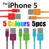 5 Colour USB Data Charger Cable for iPhone 5S 5C 5 iPod Touch Nano 7 iPad Mini Random pick