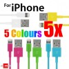 Green Blue Yellow Cherry White Colour USB Data Charger Cable for iPhone 5S 5C 5 iPod Touch Nano 7 iPad Mini