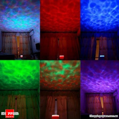 Aurora Wave 7 Colour LED Party Light Projector with Built-in Speaker