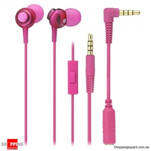 Audio-technica ATH-CK202iS Inner-Ear Headsets for Smatphone Pink