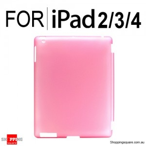 Back Hard Case Pink Colour for iPad 2, 3, 4
