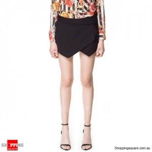 Women's Stylish Tailored Shorts Black Colour Size 8