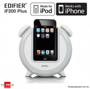 Edifier IF200 Plus iPhone iPod Alarm and Speaker Dock - White