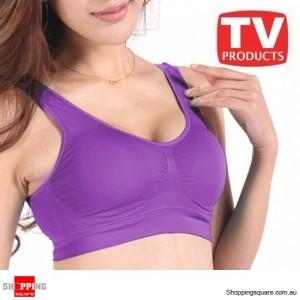 Aus Bra Seamless - Size 10 - Purple Colour- Comfort Genie Style - Shapewear