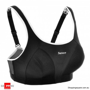 High Impact Racerback Sports Bra 80F Black Colour Size 12