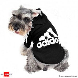 Cotton Hoodies Sportswear T-Shirt For Pets Dog & Cat Black Colour Size S