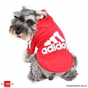 Cotton Hoodies Sportswear T-Shirt For Pets Dog & Cat Red Colour Size M