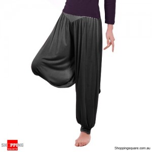 Women Boho Harem Pants Yoga Trousers Size 12 Black Colour