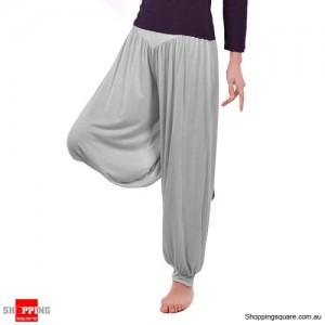 Women Boho Harem Pants Yoga Trousers Size 12 Light Grey Colour