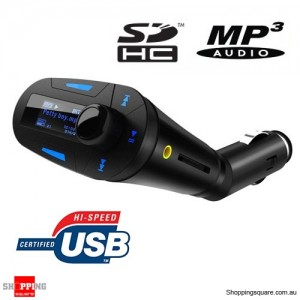 Wireless FM Transmitter Car Modulator USB Support SD With Remote Control MP3 Player Screen Display