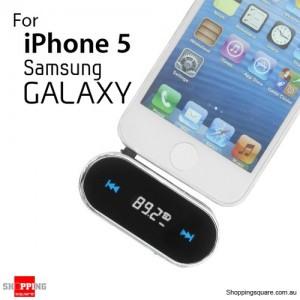 Mini FM Transmitter 3.5mm Portable Hand Free Car Kit for iPhone, Samsung Galaxy