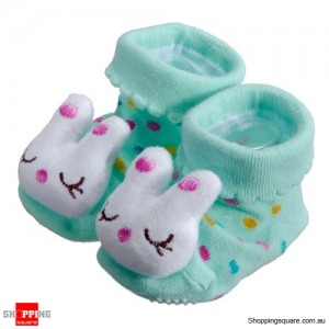 Green Rabbit Newborn Baby's Unisex Anti-slip Soft Comfortable Socks