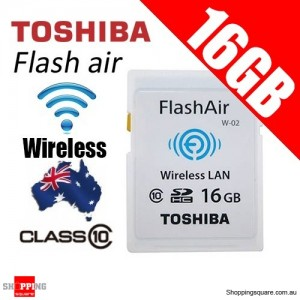 TOSHIBA 16GB FlashAir Wireless Data Transfer Class 10 SD Card