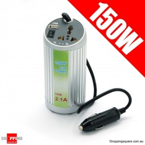 150W 12V DC to 220V AC Car Power Inverter Can Shape & USB