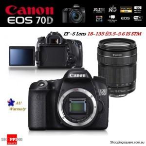 Canon EOS 70D with EF-S 18-135mm f/3.5-5.6 IS STM Lens Wi-Fi Camera Kit