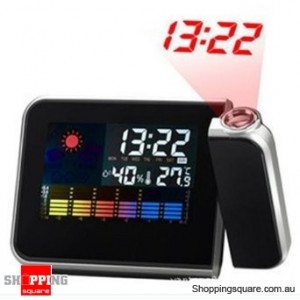 Digital Weather Projection Snooze Alarm Clock LCD display