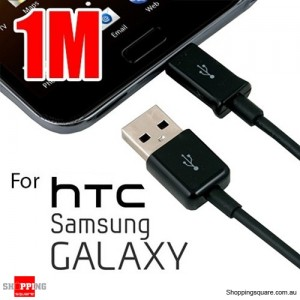 1m USB to Micro USB Charging Data Cable for Samsung Galaxy, HTC , MP3, MP4