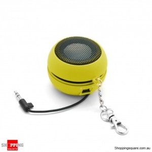 Mini Portable Speaker for iPhone Samsung HTC Sony LG Yellow Colour