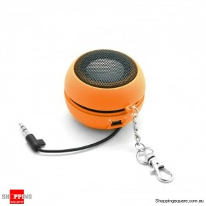 Mini Portable Speaker for iPhone Samsung HTC Sony LG Orange Colour