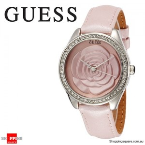 Guess Rosette Pink Round Dial Quartz Womens Watch