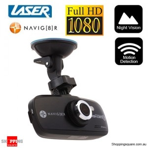 "LASER Navman Navig8r Car Crash Camera HD1080p 2.7"" LCD TFT in Car Camera"