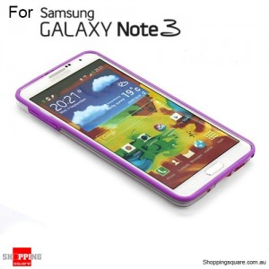 Bumper case for Samsung galaxy Note III N9005 Purple Colour