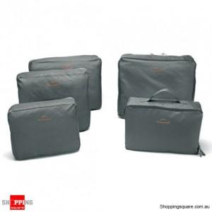 5x Traveller's Luggage Organizer Bag - Gray Colour