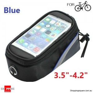 "Bicycle Pannier Front Tube Saddle Bag for 3.5"" - 4.2"" SmartPhone Blue Colour"