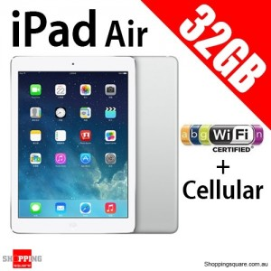 Apple iPad Air IPS 32GB 9.7inch Wifi+Cellular Tablet 4G LTE Sliver