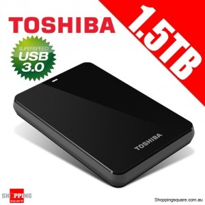 Toshiba 1.5TB Canvio® Connect Portable Hard Drive USB 3.0 - Black Storage HDTC715AK3C1