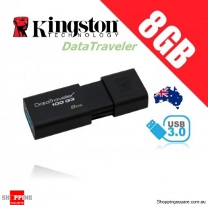 Kingston DataTraveler 100 G3 8GB USB Flash Drive (DT100G3)