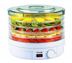 Maxkon Round Adjustable Food Dehydrator with Removable Trays