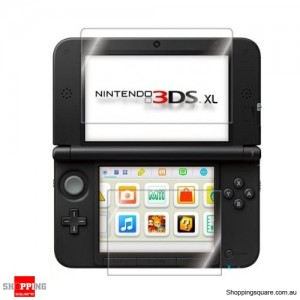 2 in1 Top Bottom LCD Screen Protector Cover Film For Nintendo 3DS XL/LL