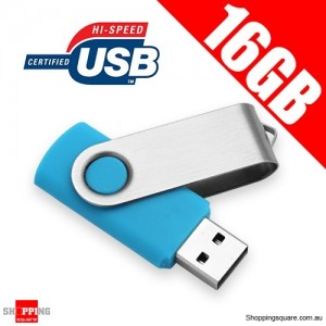Fashion 16GB USB 2.0 Flash Memory Stick Card Drive 16 GB Blue Colour