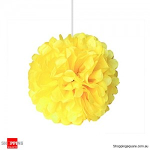 Yellow Tissue Paper Pom Poms for Party Decorations 25cm