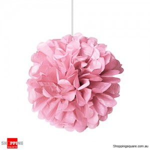 Pink Tissue Paper Pom Poms for Party Decorations 25cm