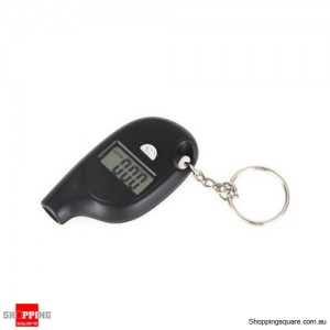 Digital Car LCD Tyre Tire Pressure Gauge Keychain