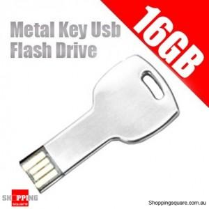 Waterpoof 16GB Metal Key Usb Flash Drive - 16G Flash Memory Pen