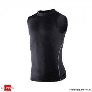 Universal Compression Sleeveless Top Size 8 Black Colour