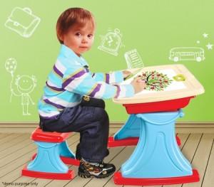 Kids Art Easel Desk Set