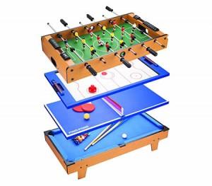4-in-1 Table Tennis / Air Hockey / Pool / Foosball / Table Soccer Games Table