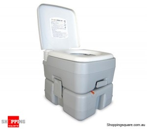 15L Integrated Portable Camping Toilet with Rotating Spout