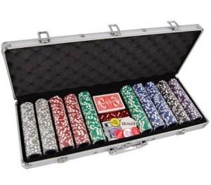 500 Chip Professional Poker Game Set in Aluminium Case