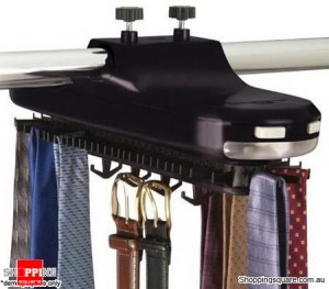 Electronic Revolving Tie & Belt Closet Rack with LED Light - KT-1