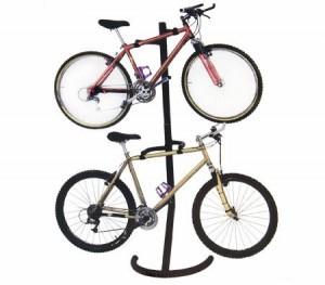 Gravity Bike Storage Rack Carries Two Bikes