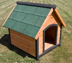Indoor / Outdoor Wooden Small Dog House Kennel Pet Cabin