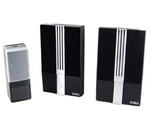 Wireless Portable Doorbell Door Chime with 2 Receivers - 32 Polyphonic Tones & Battery Operated